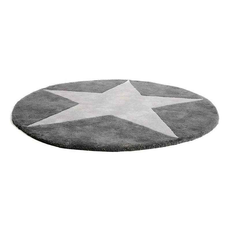 Teppich Stern Grau Ca D 90 Cm Babyzimmer Grau Junge Kinderzimmer