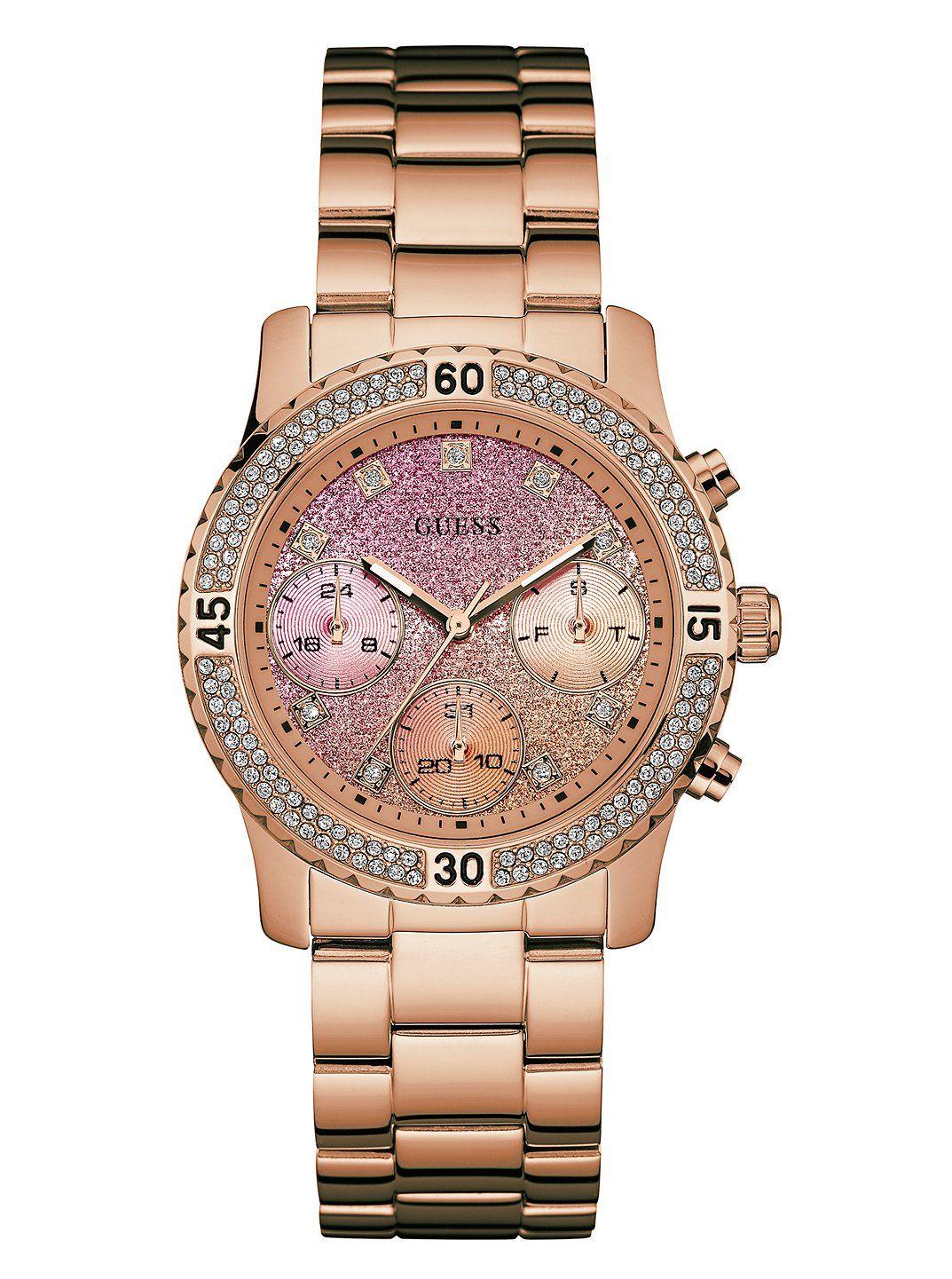 03d4172c2fba Rose Gold-Tone Gradient Feminine Sport Watch