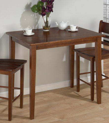 Jofran Chadwick Counter Height Table With Corner Bench And: Jofran Fixed Top Counter Height Table In Bailey Brown