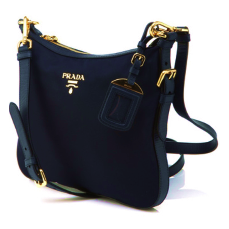 937c40295f1b Prada Blue Sling Bag View3
