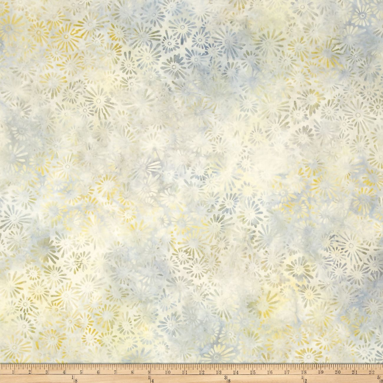 106'' Wide Wilmington Batik Quilt Back Flower & Leaves Gray