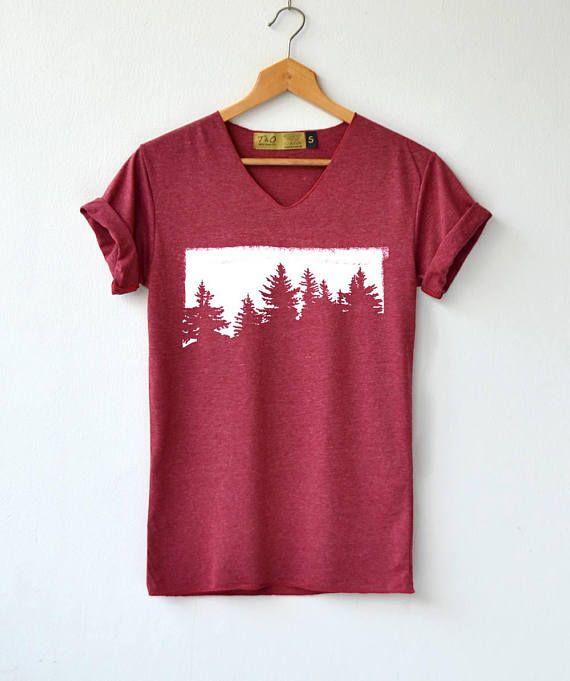 96ff2e58 Forest Shirt - Hiking Shirt - Adventure T-Shirt High Quality Graphic T- Shirts Unisex