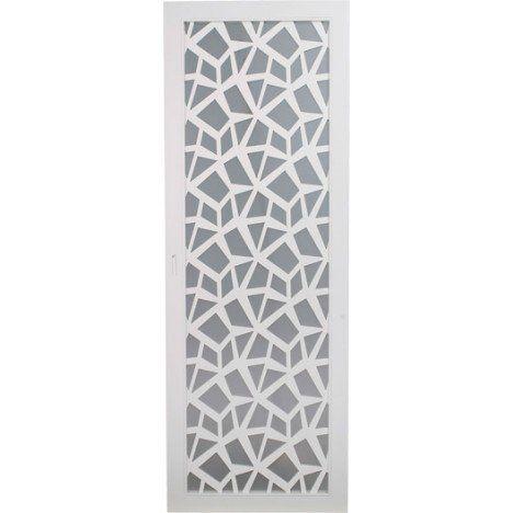 Porte coulissante plaqué blanc Crash ARTENS, 204 x 83 cm    pour la - decoration pour porte d interieur