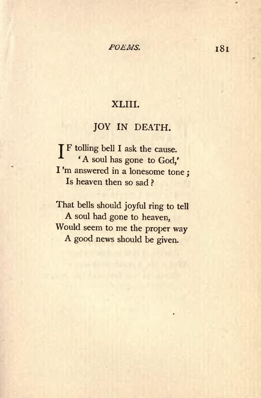 emily dickinsons view of death An unusual take on the onset of autumn, admittedly, but one of the many reasons why emily dickinson's poems repay closer analysis: they avoid the obvious take on things, and offer a strikingly individual perspective on the natural world.