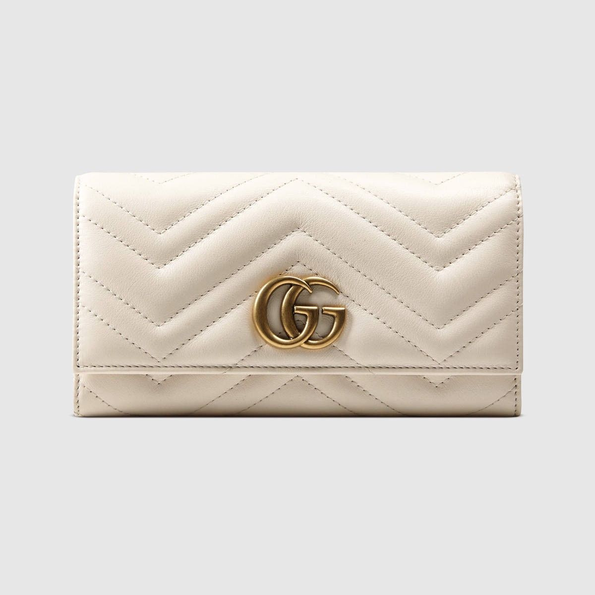 09809ef82767 GUCCI Gg Marmont Continental Wallet - White Leather. #gucci #all ...