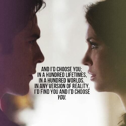What I would love to hear from The One. | THE VAMPIRE DIARIES
