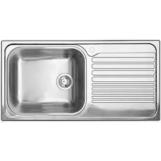 Stainless Steel Kitchen Sinks With Drainboards single bowl, right-hand drainboard topmount stainless steel