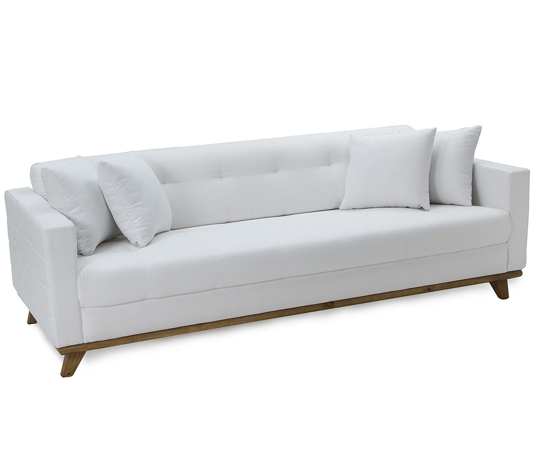 Sof baroli branco 3 lugares etna decora o for Sofa 0 interest