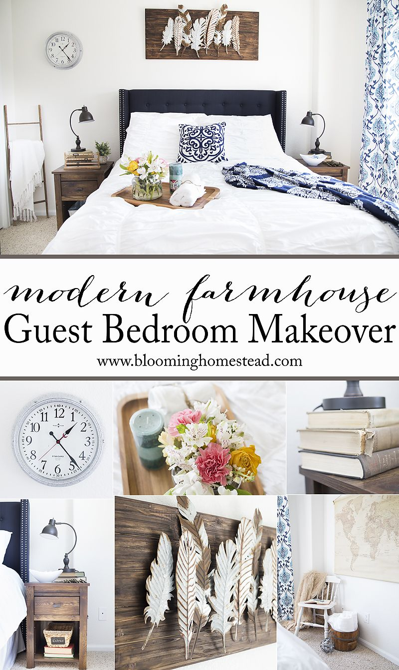 Modern Farmhouse Guest Bedroom Makeover Guest Bedrooms Modern