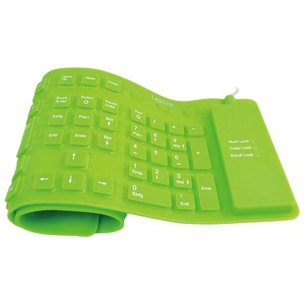 Bringt Farbe ins Büro: Flexible Tastatur aus Silikon