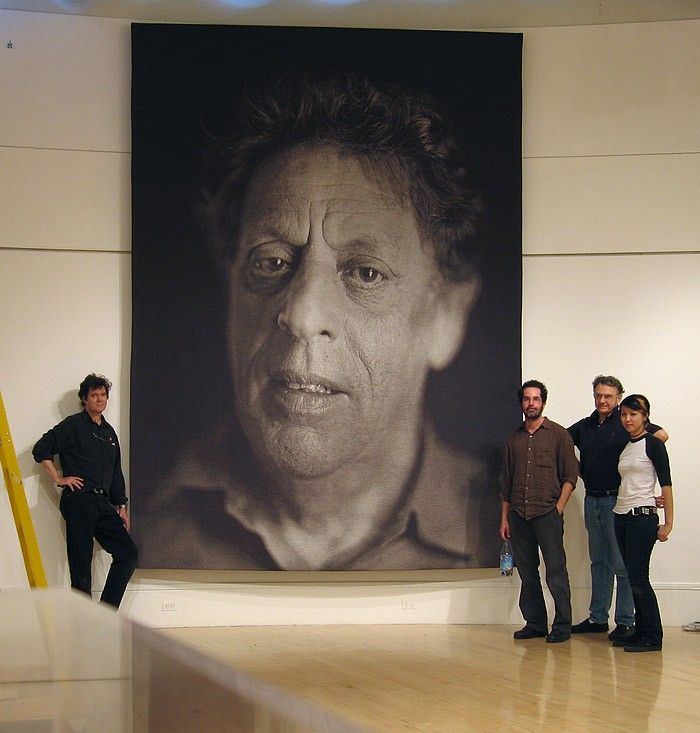 CLOSE Chuck - HYPER-REALISM - portrait of Phillip Glass ...