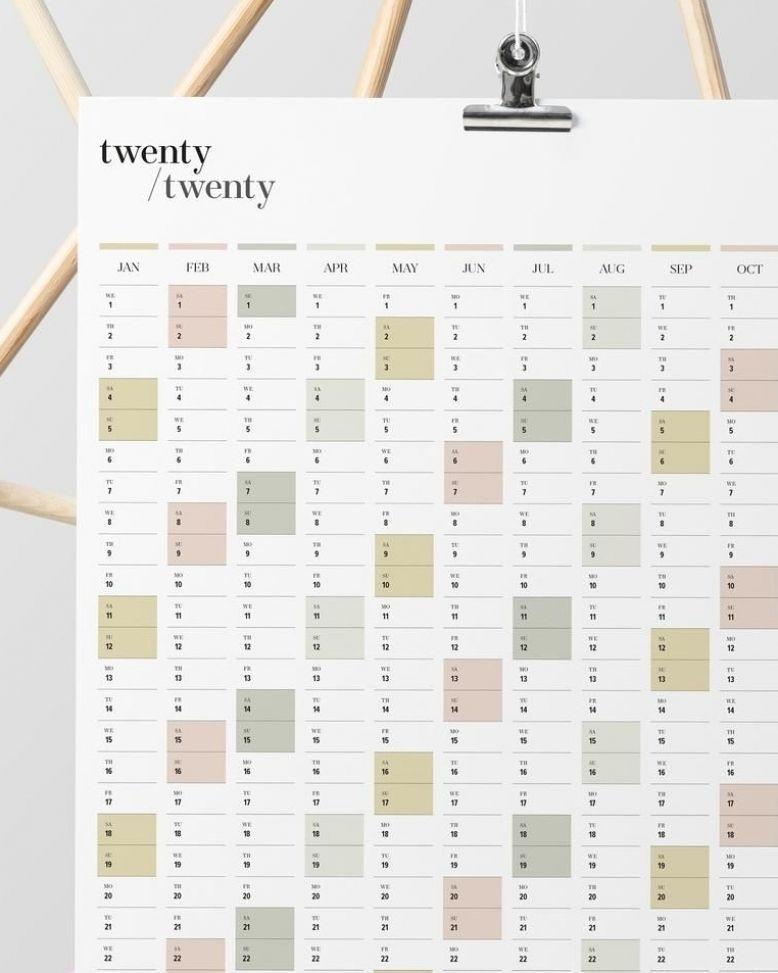 2019 Calendar PRINTABLE  2019 Eucalyptus Planner Printable Planner Weekly Planner Wall Planner
