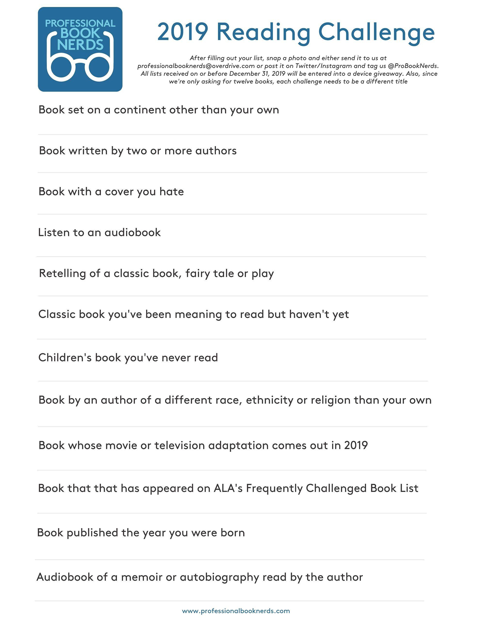 professionalbooknerds.com | Books Worth Reading | Reading challenge ...