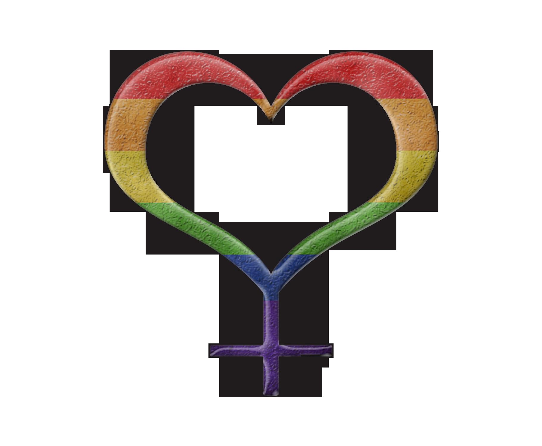 Lesbian pride design rainbow colored heart shaped female gender rainbow colored heart shaped female gender symbol heart shaped female gender buycottarizona