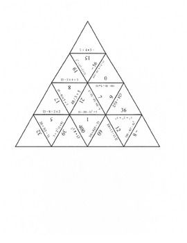 Order of Operations Puzzle meets Common Core Standards. This ...