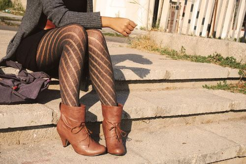 love this look with booties!