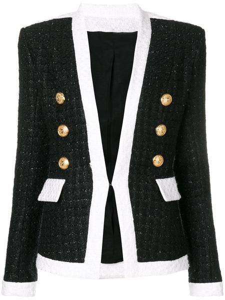 4f6b43d63d Tweed Black + White Blazer | Fashion | Balmain, Blazer dress, Blazer