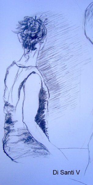mis dibujos con modelo vivo
