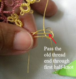 Tat-a-Renda: How to add New Thread Without Tying a Knot
