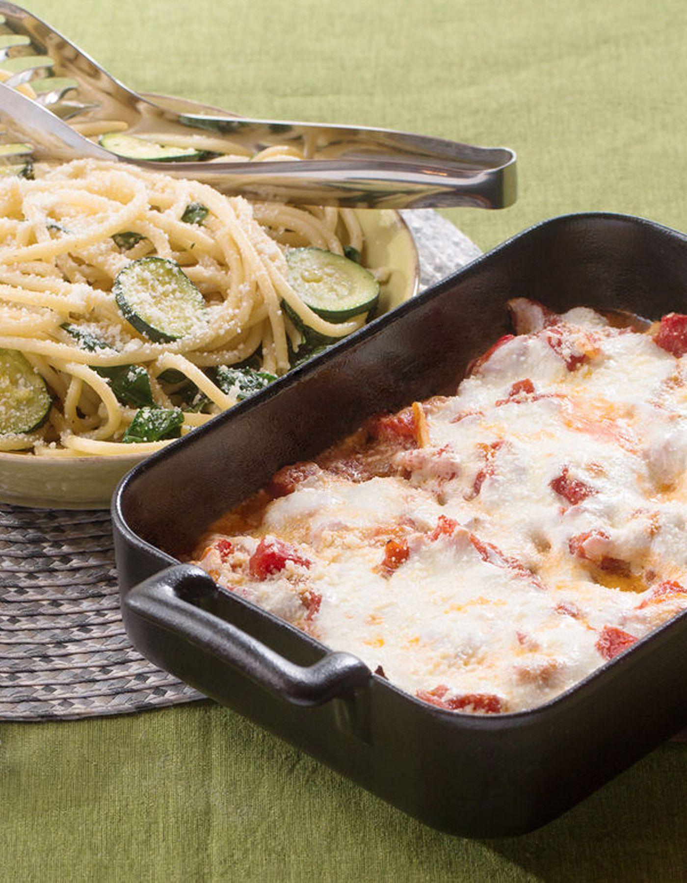 Blue apron bucatini - Chicken Parmesan Bucatini Pasta With Fresh Mozzarella Zucchini