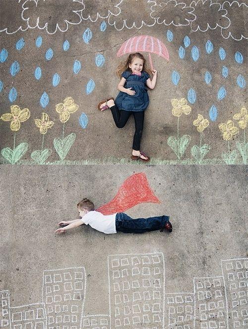 Erstellen Sie zusammen mit den Kindern die tollsten Kreidebilder und ...