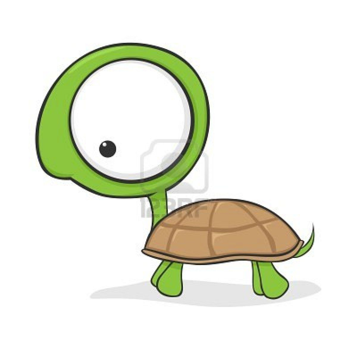 Cartoon Characters Cute : Cute cartoon turtle with huge eyes stock photo