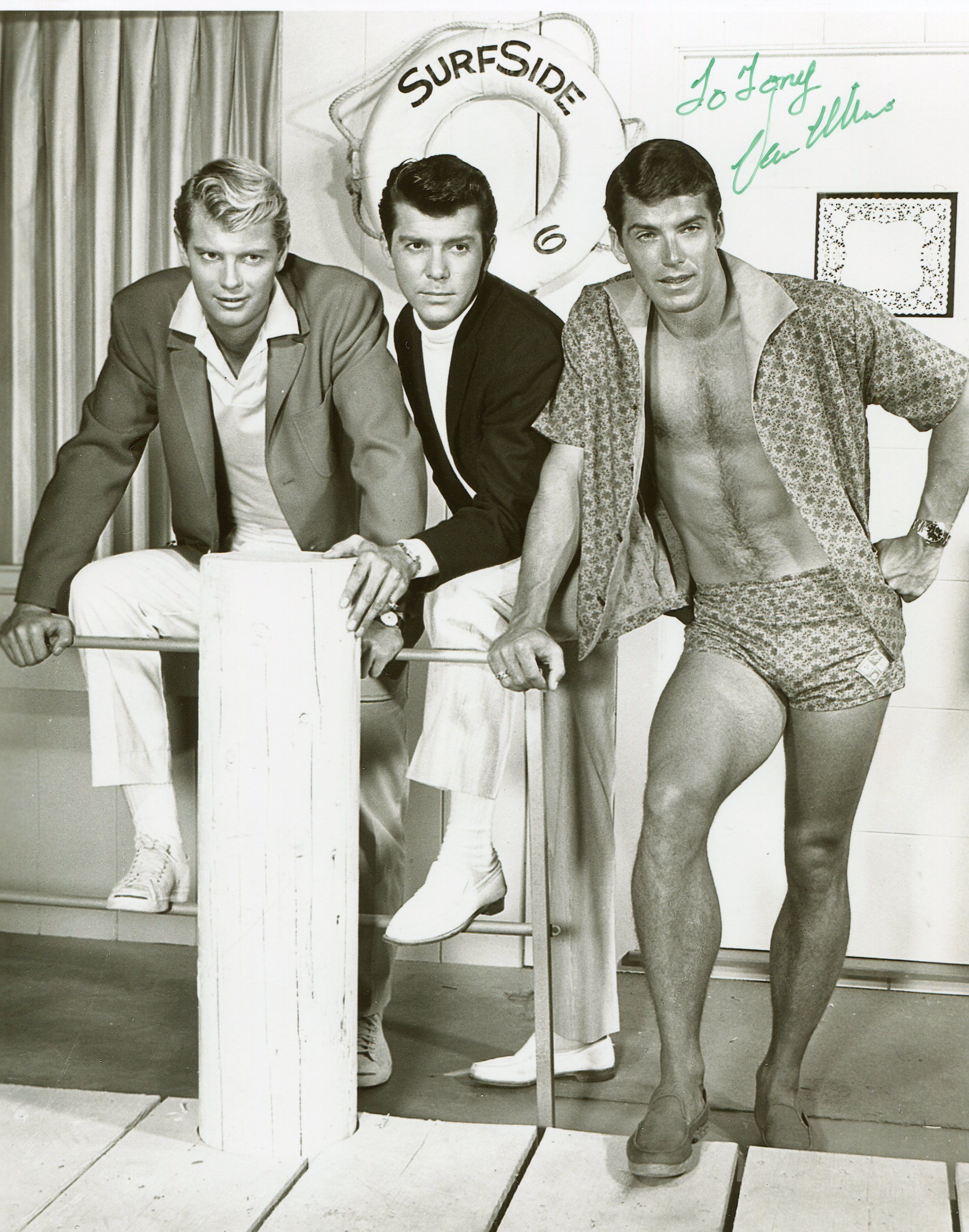 Troy Donahue Lee Paterson And Van Williams Surfide Six 1960