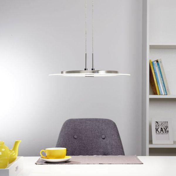 Höhenverstellbare LED Pendelleuchte Roma in chrom Pendelleuchten - led leuchten wohnzimmer