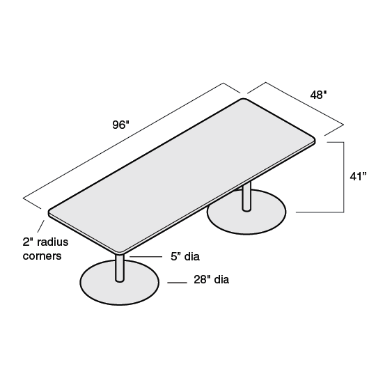 Groupwork Rectangular Conference Table Product Dimensions