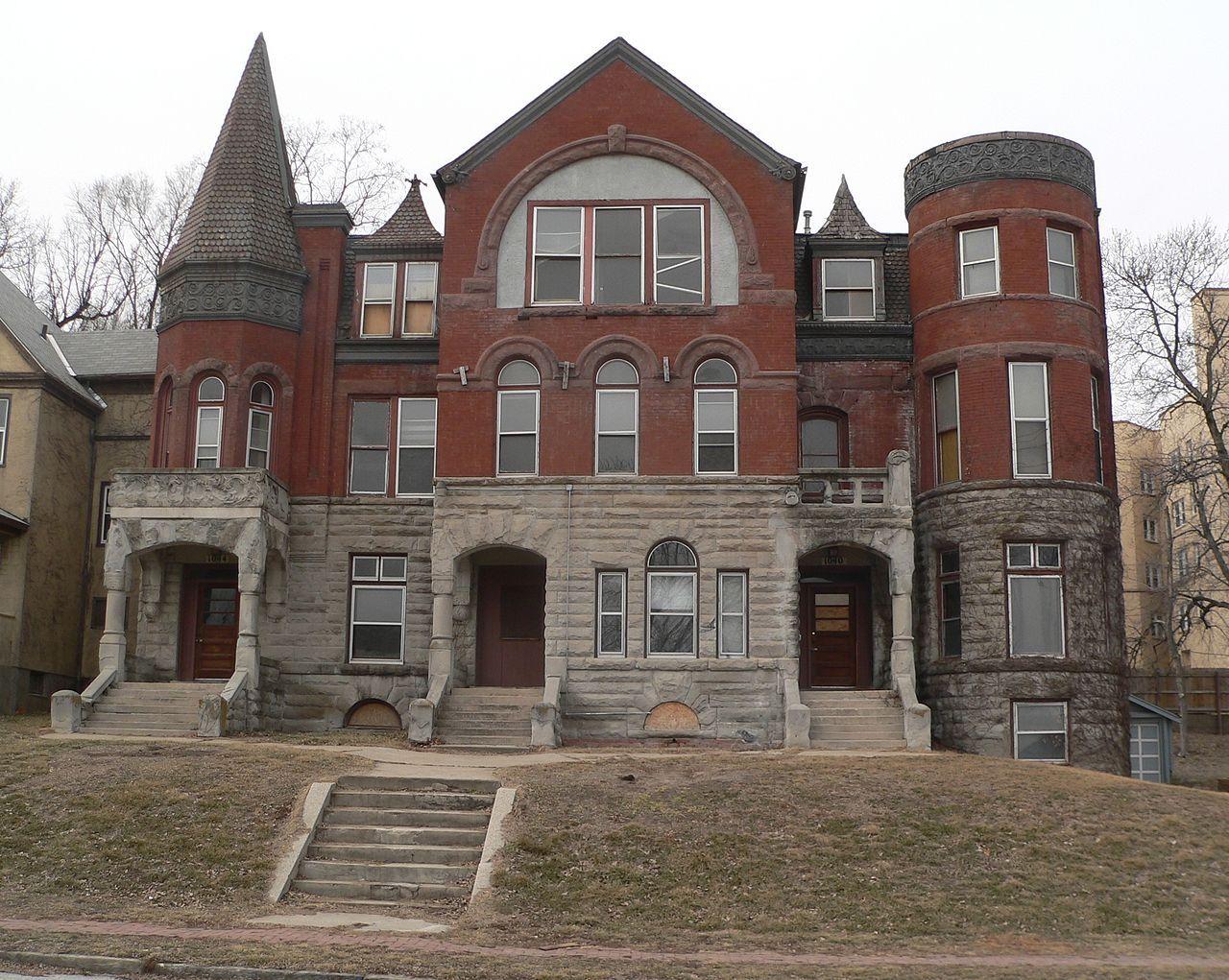 Town House Georgia Row House Omaha Ne 1890 Row House Victorian Homes House
