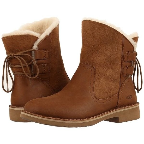 fa6de4efad8 UGG Naiyah (Chestnut) Women's Boots ($170) ❤ liked on Polyvore ...