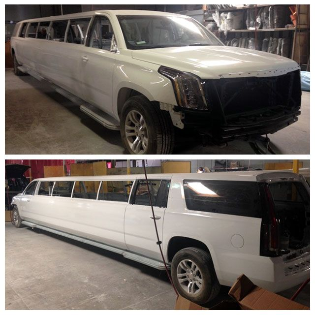 Cadillac Car Rental: Our 2015 Cadillac Escalade Limo Is Right On Schedule To Be Finished At The End Of November In