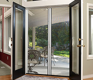 Sierra 200 Retractable Double Door Screen From Genius Screens Available From Air Tech Scree French Doors Interior Retractable Screen Door French Doors Exterior