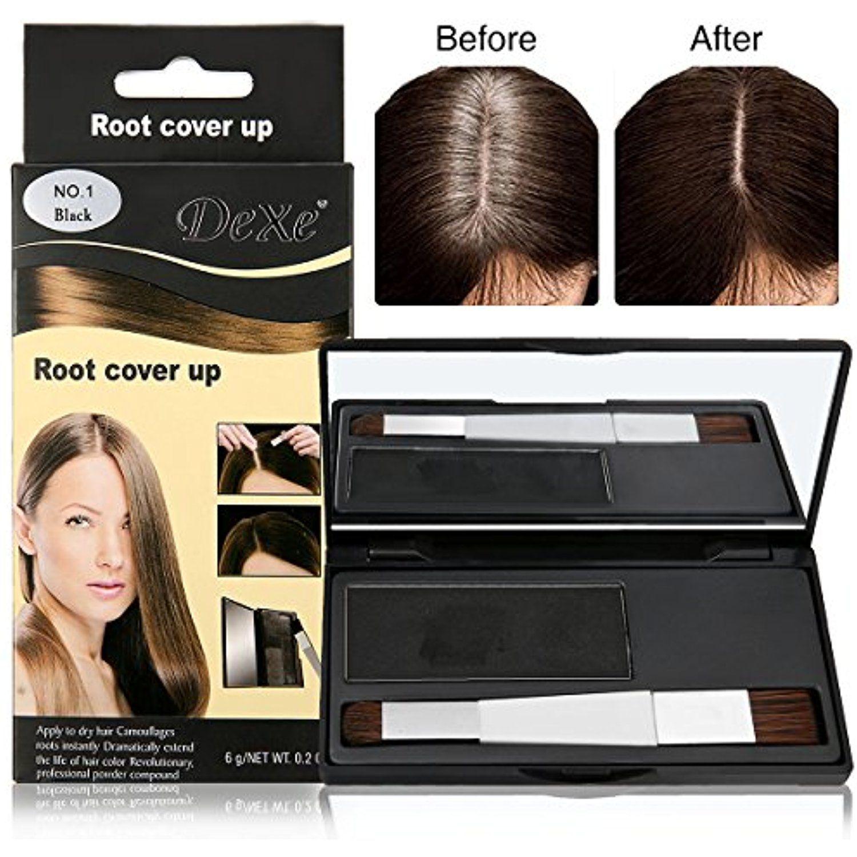 Luckyfine Temporary Hair Dye Powder Root Cover Up Black Hair