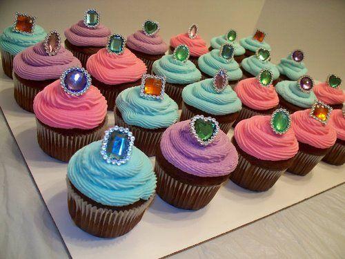 Phenomenal Jewel Cupcakes With Images Fancy Nancy Party Fancy Birthday Funny Birthday Cards Online Unhofree Goldxyz