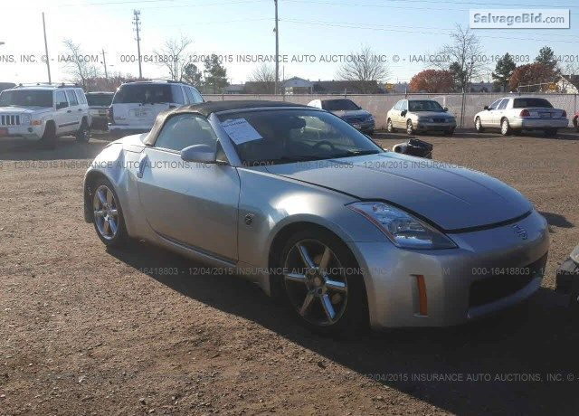 Salvage Silver Nissan 350z At Memphis Tn On Online Auction Salvagebid Http Bit Ly 1xqjcco Nissan 350z