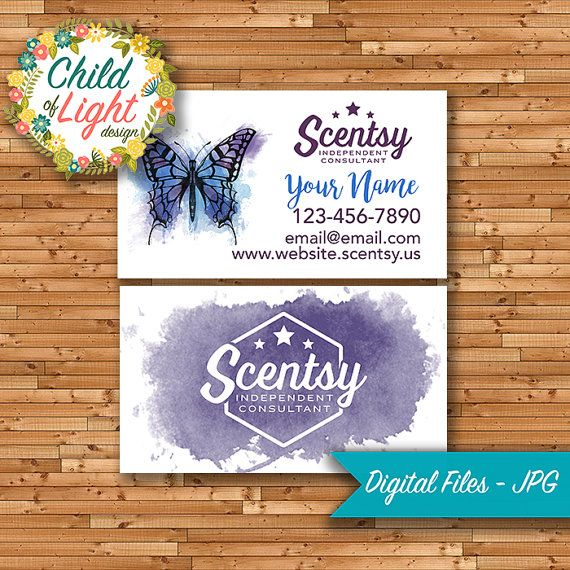 AUTHORIZED SCENTSY VENDOR Business Cards Custom Business Card