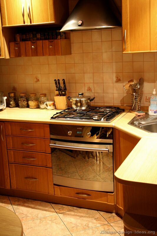 Kitchen Idea of the Day Natural warmth This is a small modern wood