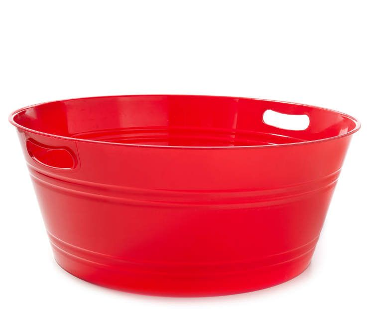 Large Red Round Party Tub At Lots