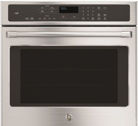 Ge Cafe Single Electric Wall Oven With Bake Element Self Clean Heavy Duty Roller Rack And Brillion Enabled In Stainless Visit The Image Link More