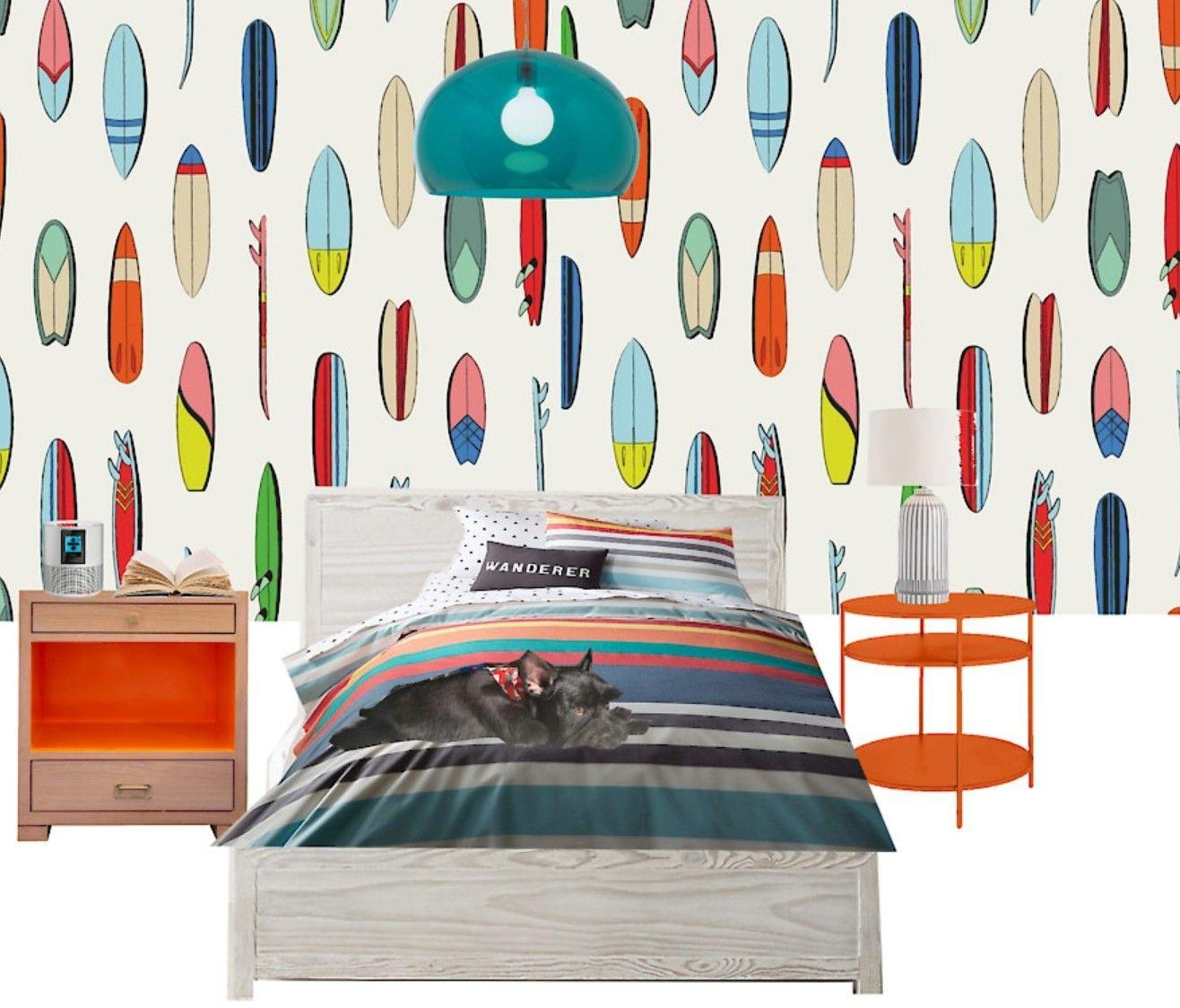Surf themed bedroom in 2020 | Interior design mood board ...