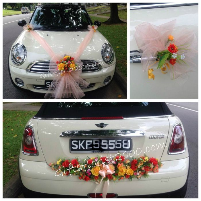 Bridal car decoration 12 bright artificial flowers royal wedding bridal car decoration 12 bright artificial flowers junglespirit Image collections