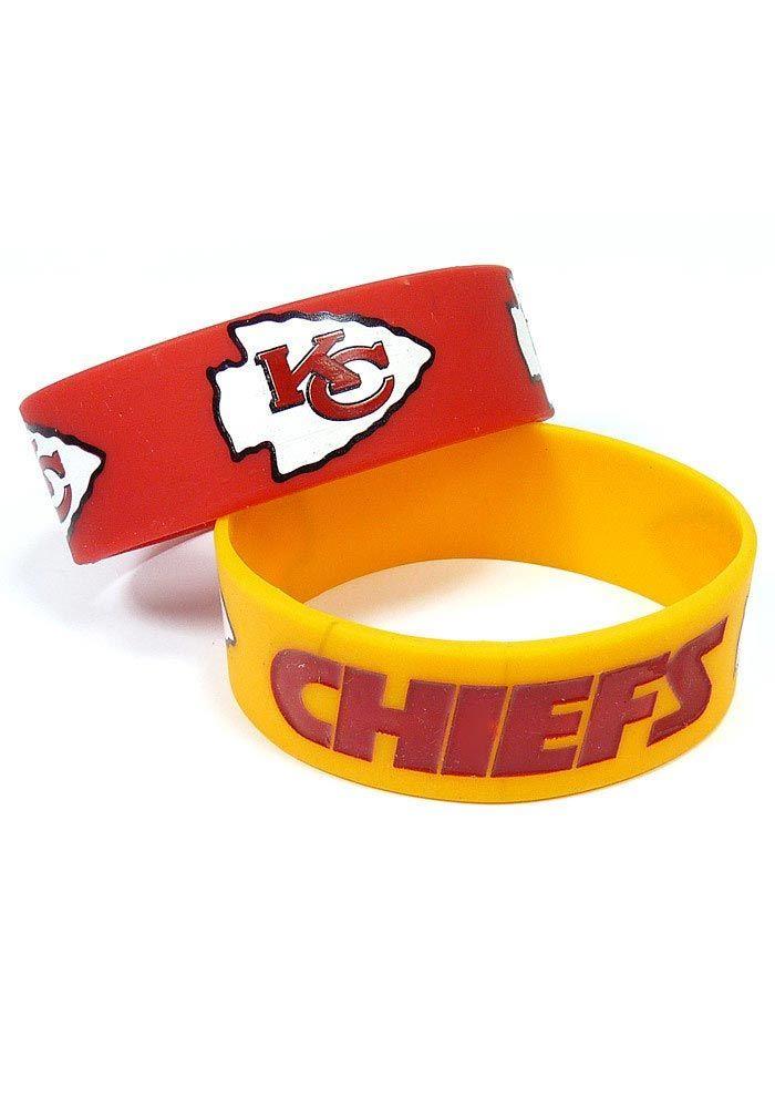 Kansas City (KC) Chiefs 2-Pack Red and Gold Bulky Bands http://www.rallyhouse.com/shop/kansas-city-chiefs-kansas-city-chiefs-2pack-red-and-gold-bulky-bands-9120344 $6.95