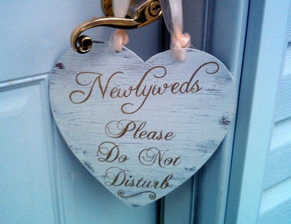 gold wedding sign double sided do not disturb bridal suite