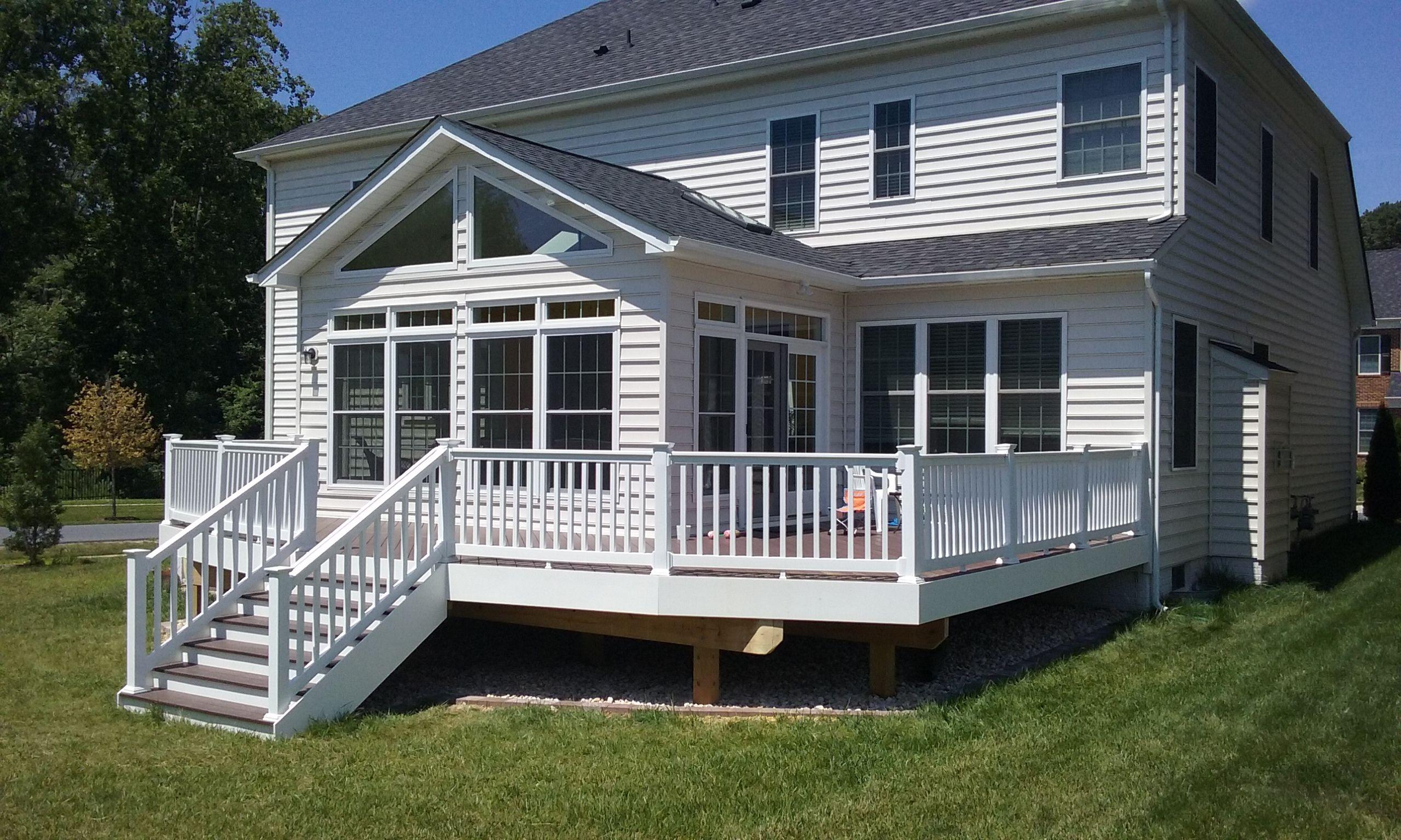 A Sunroom Deck Combo Patio Builders Porch Patio Porch Builders