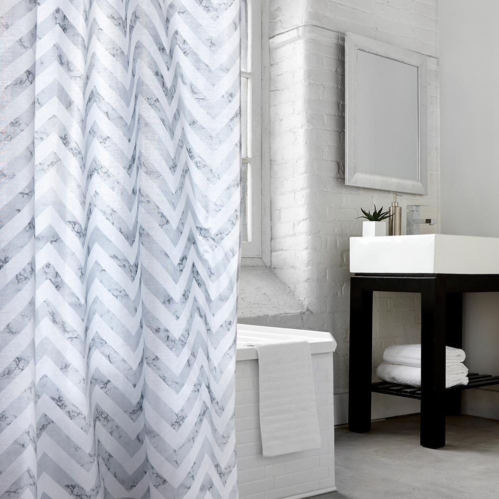 Grey chevron shower curtain grey chevron and gray