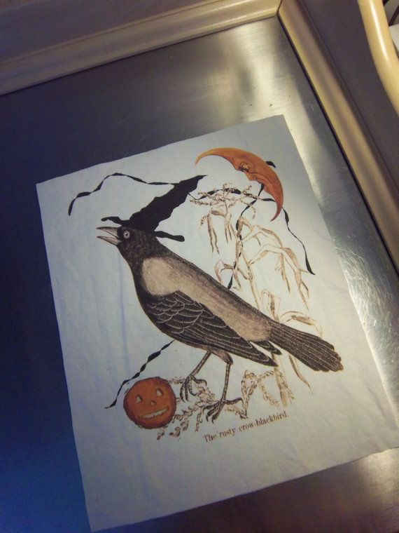 Halloween quilt block handmade sewing art journal by iwathd09