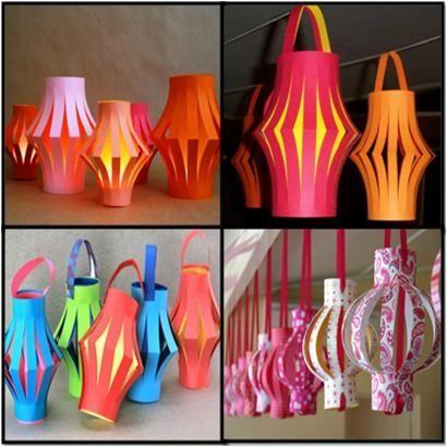 paper lanterns 12 | Diwali craft, Paper lanterns, Lantern craft