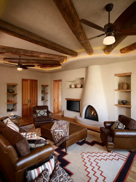 Southwest rugs family room southwestern with adobe fireplace beams southwest rugs family room southwestern with adobe fireplace beams built in shelves canadian ceiling fan rugs in bedroom pinterest adobe fireplace mozeypictures Image collections