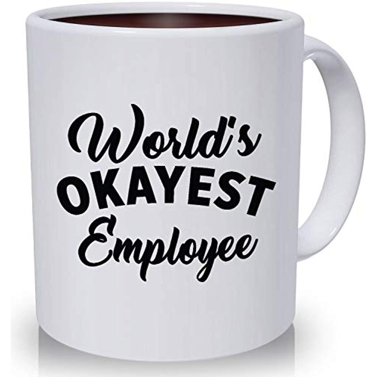 e0bbb2555a4 Best Funny Mugs Promotion Gift, World's Okayest Employee Funny ...